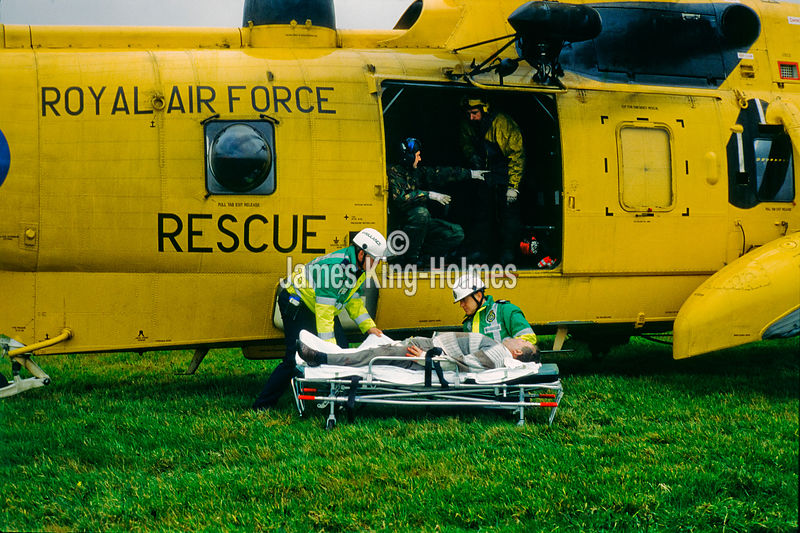 Emergency patient evacuation by Air Ambulance
