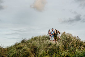 Danish family in dunes by Klitmøller 4
