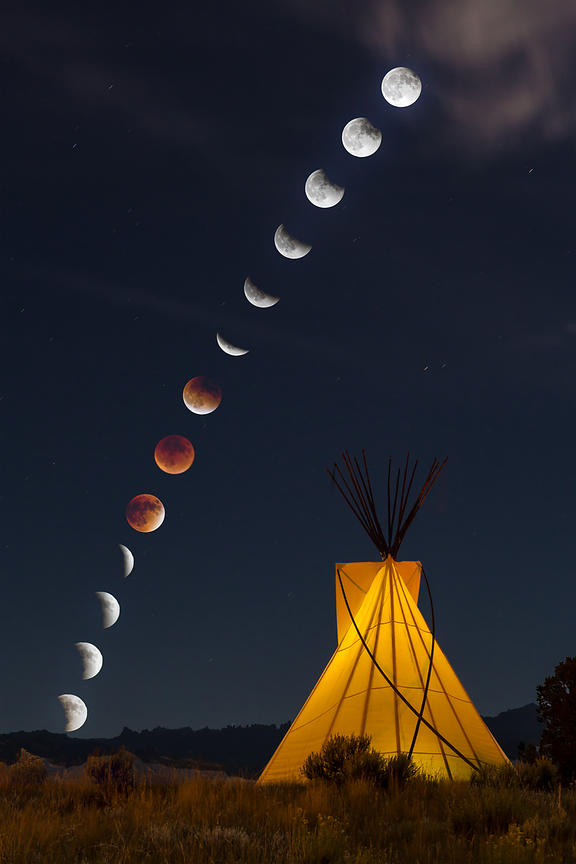Tipi and Lunar Eclipse #2