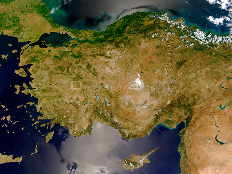 EARTH Eastern Mediterranean -- 2005 -- Turkey, Greece, Cyprus, Syria and Lebanon are featured in this MODIS image -- Picture ...