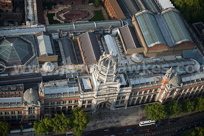 Aerial view of the Victoria and Albert Museum, South Kensington, London
