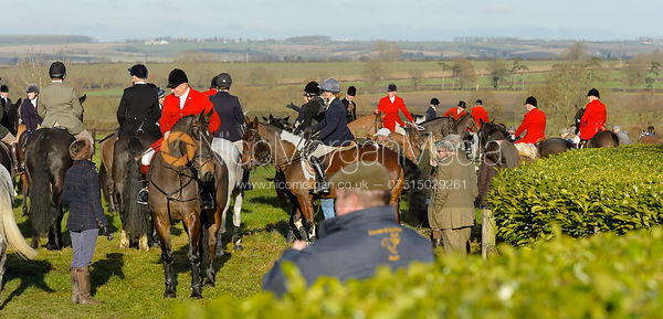At the meet - The Quorn at Barrowcliffe Farm