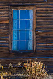 Window of an Old Ghost Town Building in Belmont, Nevada