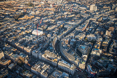 Aerial view of London Regent Street and Piccadilly
