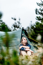 Girl camping in Denmark 5