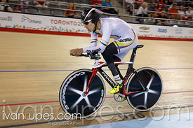 Men's Individual Pursuit C1-3 Finals. Track Day 2, Toronto 2015 Parapan Am Games, Milton Pan Am/Parapan Am Velodrome, Milton,...