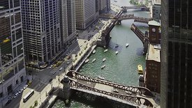 Bird's Eye: Raising Chicago River's Draw Bridges