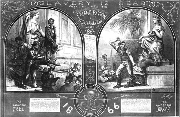 Thomas Nast cartoon Slavery is Dead