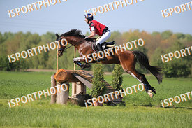 Michael KAGER-FOLTIN and FINESZ 5 during National Qualifier Eventing Competition, cross country, 2018 April 21 - Bábolna, Hun...
