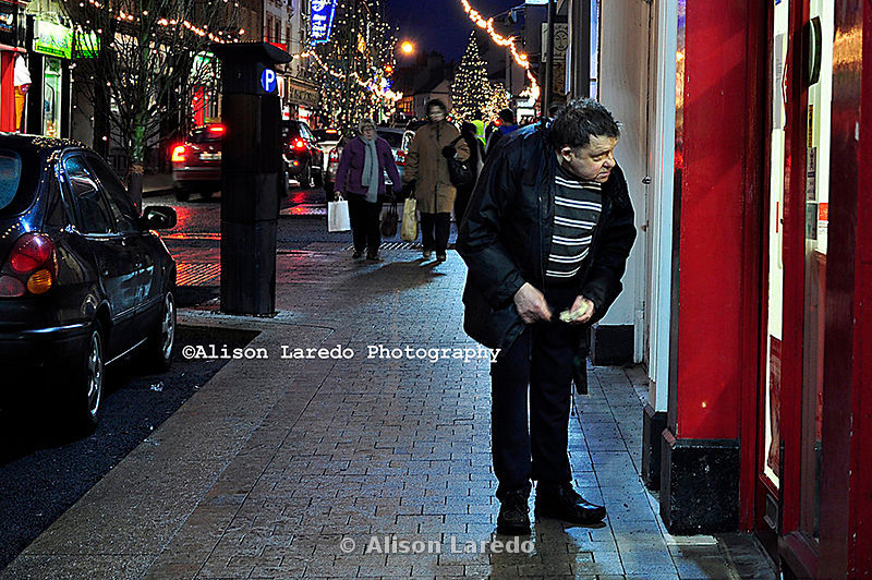 Jack Blaine wandering around Castlebar just before Christmas 2010. Photo Alison Laredo