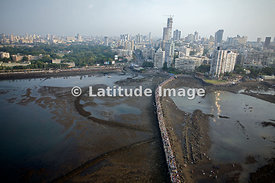 Mumbai, Walkway to Hadji Ali Mosque