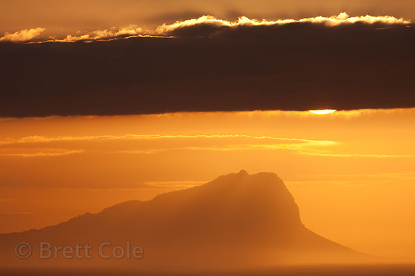 Sunrise over the Atlantic Ocean from Miller's Point, Cape Peninsula, South Africa