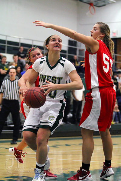 Iowa City West vs Davenport West Girls Basketball Class 4A Region #4 Semifinal 2/16/12
