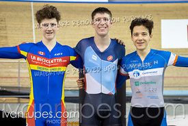 Junior Men Keirin Podium. Ontario Track Championships, March 3, 2019