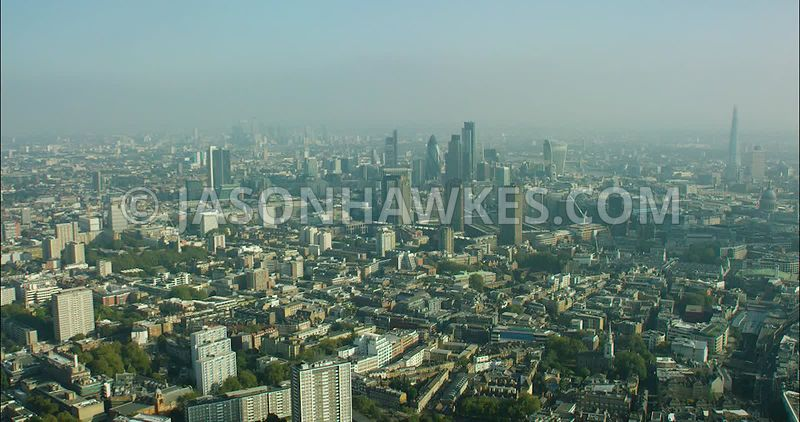 London Aerial Footage of the Barbican