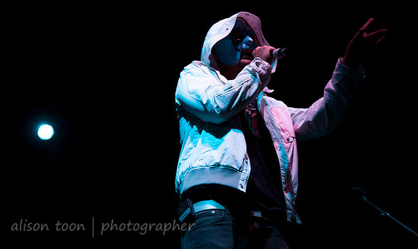 SACRAMENTO, CA - SEPTEMBER 23: Hollywood Undead performing at the Aftershock music festival, Sacramento CA, on September 23, ...