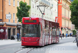 The Red tram in Innsbruck