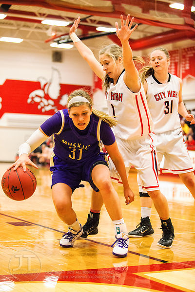 PC Girls Prep Basketball Iowa City High vs Muscatine, January 3, 2015