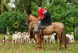 Andrew Osborne, Angus Smales at the meet. The Cottesmore Hunt at Somerby