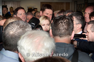 Newly elected TD Lisa Chambers, Fianna Fail, arriving at the count centre,  Castlebar. PHOTO: ALISON LAREDO