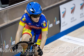 Elite/Junior Women Sprint 3-4 Final. Ontario Track Championships, March 3, 2018