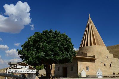 Sharaf al-Deen temple shrine, the second-holiest place for the Yazidis