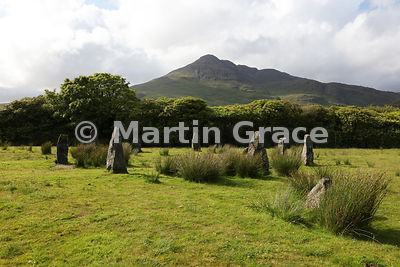Lochbuie Stone Circle, Lochbuie, with Ben Buie behind, Isle of Mull, Argyll & Bute, Scotland