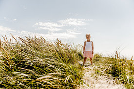 Girl in the dunes in Denmark 4