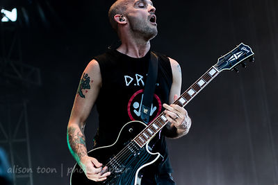 Zach Blair, guitar, Rise Against
