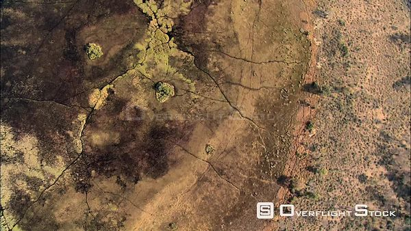 Aerial shot of the pools and channels at the floodplain margins of the delta Okavango Delta Botswana Botswana