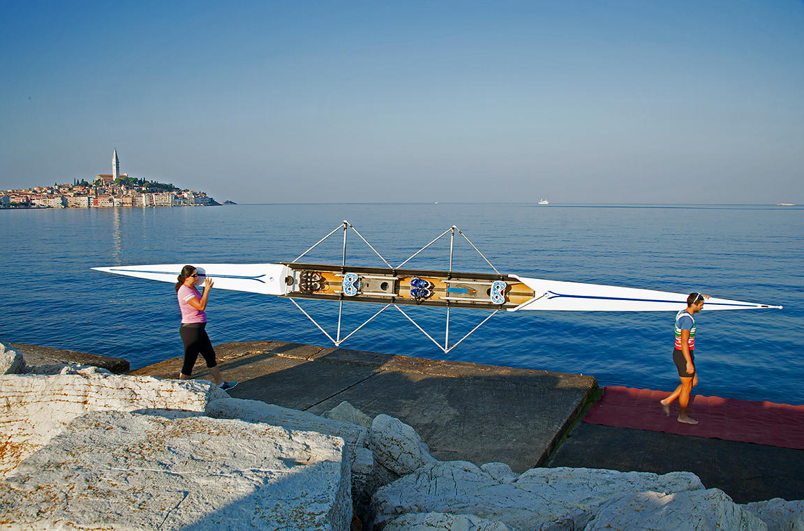 Rowing in Rovinj