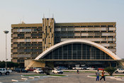 Mozambique, Beira, Railway station, completed in 1966.
