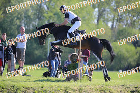 László EGYED (HUN) and MY WIN during National Qualifier Eventing Competition, cross country, 2018 April 21 - Bábolna, Hungary...
