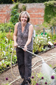 Alison Jones, co-owner of Chipchase Castle Nursery, Wark, Northumberland, UK