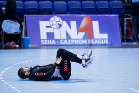 Luka Cindric during the Final Tournament - Final Four - SEHA - Gazprom league, Team training in Brest, Belarus, 06.04.2017, M...