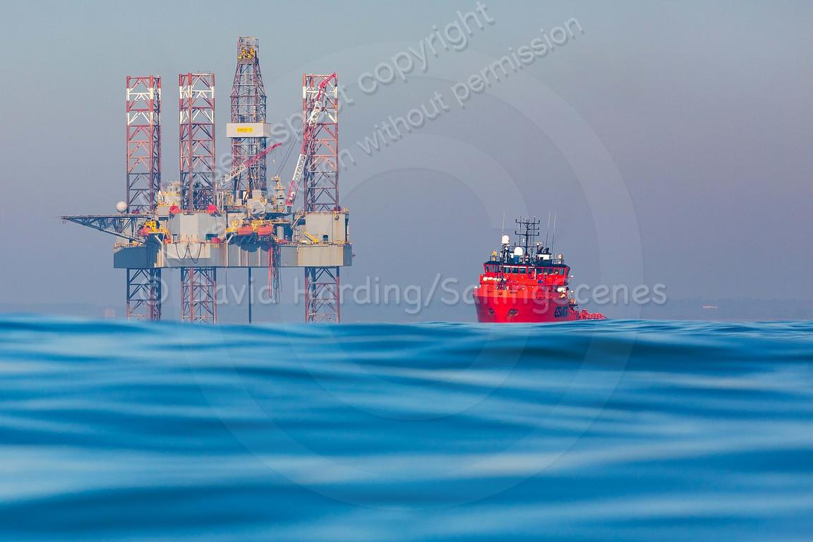 Corallian Energy's Enesco 72 oil rig in Poole Bay, 20190225041
