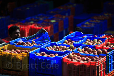 Apples for sale at a wholesale market near Manali, India