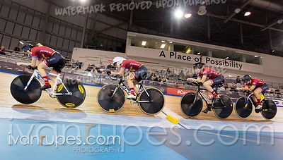 Junior Women Team Pursuit 1-2 Final. Canadian Track Championships (Jr, U17, Para), April 14, 2019