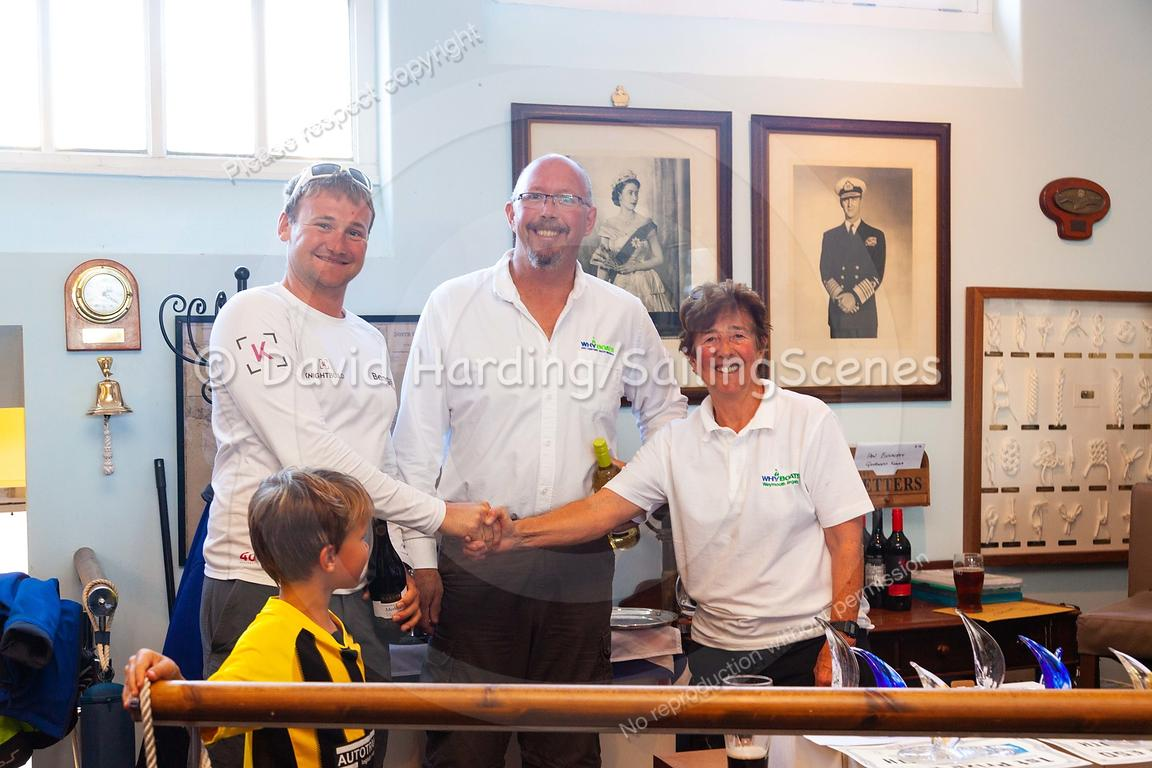 Prize-giving at Weymouth Regatta 2018, 20180909002.