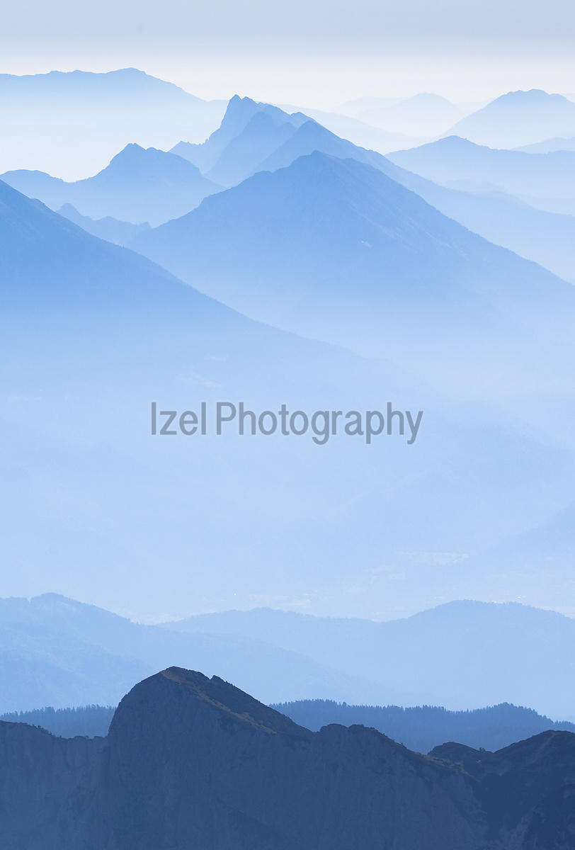 Blue dawn - Julian Alps - Mountain Photography