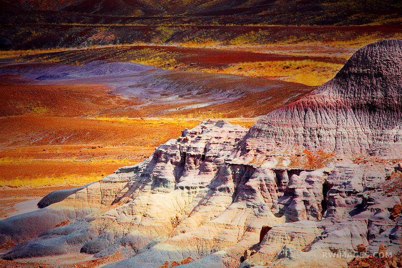 PAINTED DESERT BADLANDS PETRIFIED FOREST NATIONAL PARK ARIZONA