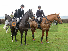 At the meet. The Belvoir Hunt at Highfield Farm 12/12