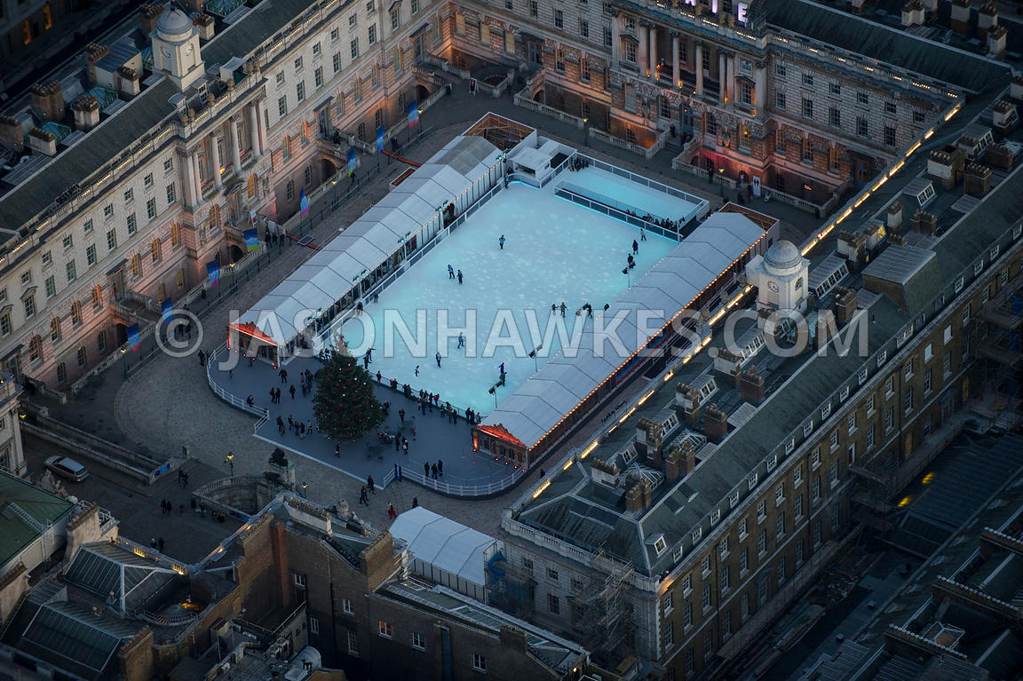 London. Aerial view of Somerset House