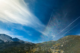 Contrails and Prism over Great Basin National Park