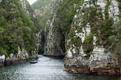 Boat trip in the Storms River Gorge, Tsitsikamma, Garden Route National Park, South Africa