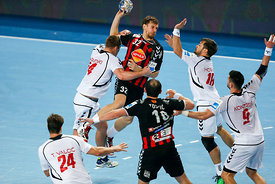 Sergei GORBOK of Vardar, Zlatko HORVAT of PPD Zagreb during the Final Tournament - Final Four - SEHA - Gazprom league, semi f...