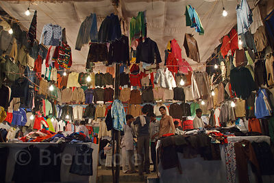 Clothes shop in Pushkar, Rajasthan, India