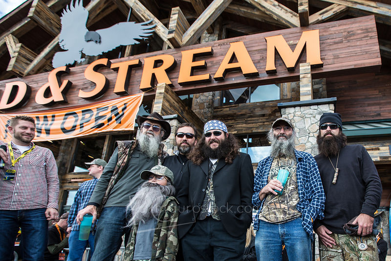 Duck Dynasty Look aLike contest at the Grand Opening of Field & Stream store in Kentucky