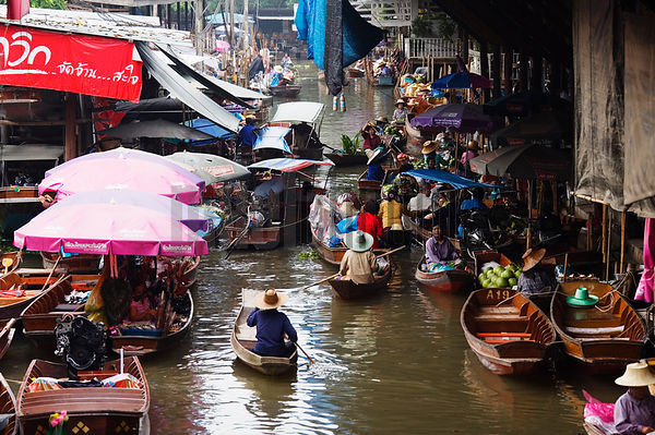 The Floating Market of Damnoen Saduak Near Bangkok Thailand