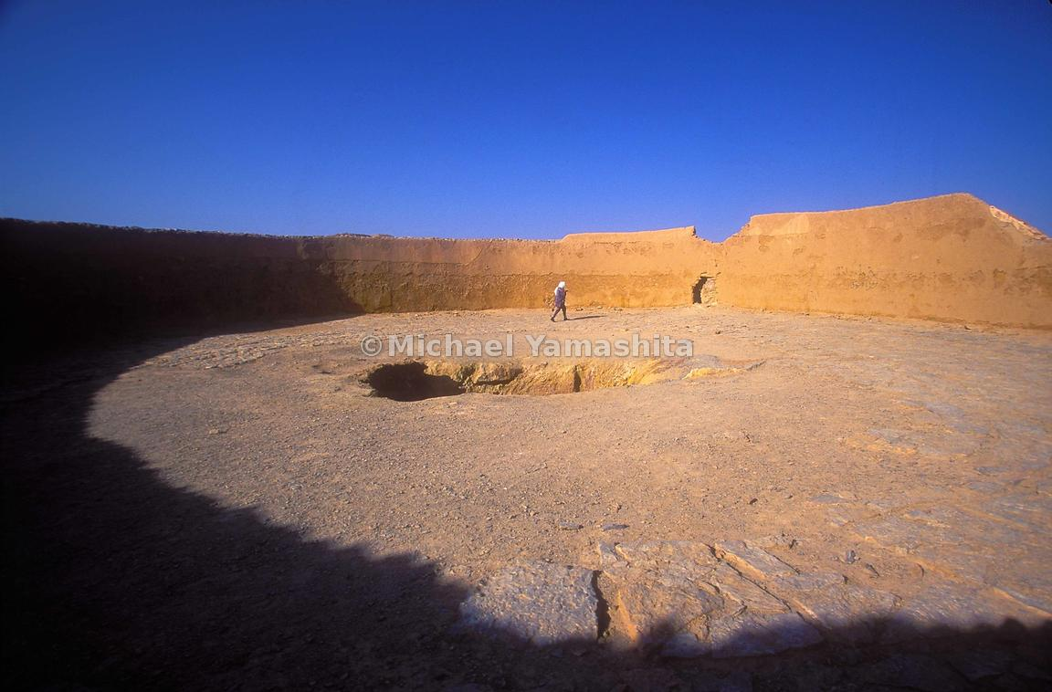In Yazd, the Towers of Silence were open-air burial places.